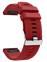 cheap -for fenix 5 silicone watch band,22mm quick fit silicone sport waterproof replacement watch band strap for garmin fenix 5/fenix 5 plus/forerunner 935/approach s60/quatix 5 (red)