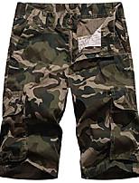 cheap -men's cotton camo multi pockets outdoor wear casual twill camouflage cargo shorts(camoa,30)