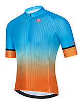 cheap -Men's Short Sleeve Cycling Jersey Blue Gradient Bike Top Mountain Bike MTB Road Bike Cycling Breathable Quick Dry Sports Clothing Apparel / Stretchy / Athletic