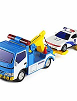 cheap -wrecker car police car combination toy car flatbed trailer small truck children toy car simulation engineering car toy model boxed toy car gift