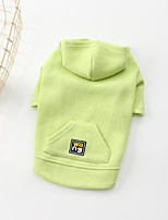 cheap -Dog Hoodie Solid Colored Basic Cute Casual / Daily Winter Dog Clothes Puppy Clothes Dog Outfits Breathable Yellow Green Costume for Girl and Boy Dog Cotton S M L XL XXL 3XL