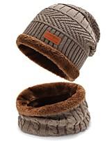 cheap -klv hat men women winter knit ski beanie skull slouchy caps unisex baggy warm crochet hat (c-gray,one size)