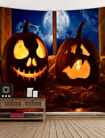 cheap -Scary Pumpkin Lantern Digital Printed Tapestry Decor Wall Art Tablecloths Bedspread Picnic Blanket Beach Throw Tapestries Colorful Bedroom Hall Dorm Living Room Hanging
