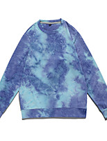 cheap -Women's Sweatshirt Tie Dye Crew Neck Color Block Sport Athleisure Top Long Sleeve Thermal Breathable Warm Soft Comfortable Everyday Use Daily Casual Outdoor / Winter