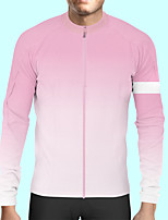 cheap -CAWANFLY Men's Long Sleeve Cycling Jersey Polyester Pink Bike Jersey Top Mountain Bike MTB Road Bike Cycling Quick Dry Sports Clothing Apparel / Stretchy / SBS Zipper / Italian Ink
