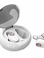 cheap -wireless earbuds with microphone tws in-ear sports mini earbuds hifi stereo with portable charging case for running fitness,white