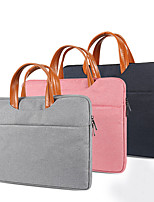 cheap -12 Inch Laptop / 13.3 Inch Laptop/14 Inch Laptop /15 Inch LaptopSleeve PU Leather / Polyurethane Leather Solid Color Unisex Shock Proof