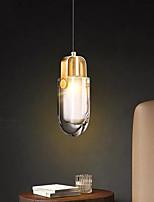 cheap -10 cm LED Pendant Light Crystal Bedside Light Single Desgin Tricolor Light Metal Electroplated Modern 110-120V 220-240V