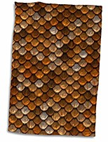 "cheap -3d rose print of copper and brass scales twl_205068_1 towel, 15"" x 22"""