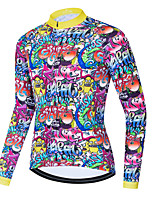 cheap -Men's Long Sleeve Cycling Jersey Winter Purple Bike Top Mountain Bike MTB Road Bike Cycling Breathable Quick Dry Sports Clothing Apparel / Stretchy / Athletic