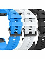 cheap -compatible with fenix 5 bands easy fit soft silicone watch bands replacement for fenix 6/fenix 6 pro/forerunner 935/fenix 5 plus smartwatches (black, blue, white)