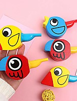 cheap -wooden colorful drawing bird shape whistles developmental toy party favor, creative educational toy - encourage imaginative holiday/birthday gift for boys girls and kids random color