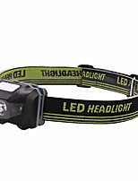 cheap -adjust headlamp headlight head torch-3w high-power waterproof ultra-light light with high elastic braided belt, use head lamp for running, camping, hiking (black)