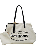 cheap -Women's Bags Canvas Top Handle Bag Zipper Floral Print 2021 Daily Outdoor Black / White Black Brown
