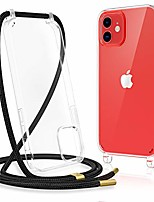 cheap -clear case for iphone 12/12 pro, iphone 12 12 pro case with crossbody strap adjustable neck lanyard shockproof protective case for iphone 12/12 pro 6.1 inches -clear