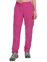 cheap -women& #39;s hiking pants lightweight convertible zip-off pants quick dry upf 50 fuchsia rose size xl