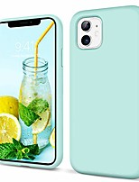 "cheap -iphone 11 case silicone iphone 11 phone case 6.1"" slim thin liquid silicone non-slip hybrid hard back cover flexible bumper protective - summer pastel mint"