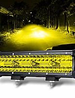 cheap -12 inch yellow fog lights 240w 24000lm light led light bar offroad spot flood combo triple row driving work lights for truck jeep car suv atv utv pickup boat marine …