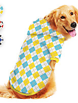 cheap -Dog Hoodie Printed Classic Cute British Casual / Daily Dog Clothes Puppy Clothes Dog Outfits Breathable Yellow Red Blue Costume for Girl and Boy Dog Polyster S M L XL