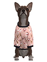 cheap -Dog Shirt / T-Shirt Santa Claus Merry Christmas Casual / Sporty Fashion Christmas Casual / Daily Winter Dog Clothes Puppy Clothes Dog Outfits Breathable Pink Costume for Girl and Boy Dog Polyster S M