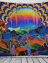 cheap -Psychedelic Abstract Wall Tapestry Art Decor Blanket Curtain Hanging Home Bedroom Living Room Decoration Polyester Hippie Sunshine Monster Skull Trippy Mountain Landscape