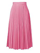 cheap -women's plus size skirts pleated high waist a-line mini skirts xl