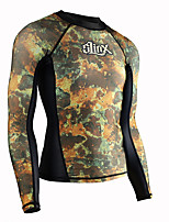 cheap -SLINX Men's Women's Rash Guard Top Breathable Quick Dry Long Sleeve Swimming Surfing Water Sports Patchwork Autumn / Fall Spring / Stretchy