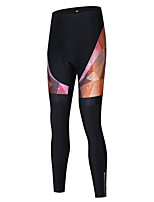 cheap -Women's Cycling Tights Cycling Bib Tights Winter Bike Bottoms Breathable Quick Dry Sports Black / Purple / Black / White Mountain Bike MTB Road Bike Cycling Clothing Apparel Bike Wear / Stretchy