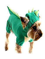 cheap -puppy dog dinosaur dragon costume hoodie jumpsuit jumper pet winter coat warm clothes (xs, 1 green)