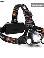 cheap -super bright led headlamp 3xt6 led headlight 3600 lumens fishing lamp 4 lighting modes camping lamp use 18650 battery (package a)