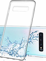 cheap -samsung galaxy s10 plus clear case, premium crystal clear tpu protective case cover – ultra-thin shockproof & anti-scratch phone bumper for samsung galaxy s10 plus