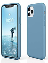 """cheap -iphone 11 pro max silicone case, iphone 11 pro max case, slim shockproof liquid silicone case (with microfiber lining) for iphone 11 pro max, 6.5"""" 2019 (cornflower)"""