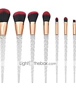 cheap -Beauty Make Up Brush Set Unicorn Transparent Handle Makeup Brush Set Screw Crystal Brush Makeup Brushes Powder Blush Brush (7 Pcs) YYFUS (Color : Red, Size : OneSize)