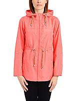 cheap -women's lightweight pack-it-in-a-pouch water-resistant jacket, coral lipstick, m