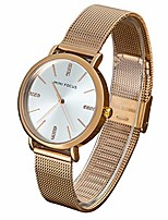 cheap -women's watch fashion analog quartz watches with stainless steel mesh band waterproof wristwatch casual dress gift watch ladies (rose gold)