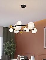 cheap -90 cm Globe Desgin Chandelier Black Gold Pendant Light Nordic Ring Circle Metal Painted Finishes Modern 110-120V 220-240V