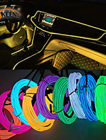 cheap -Okeen 1m/2m/3m/5m Neon LED Car Interior Lighting Strips Auto LED Strip Garland EL Wire Rope Car Decoration lamp Flexible Tube