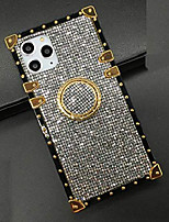 cheap -for samsung galaxy a20 / a30 bling case, luxury bling glitter sparkle cute gold square corner soft trunk cover with finger ring grip kickstand phone skin,gray