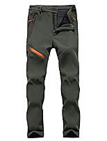 cheap -men/women windproof waterproof softshell trousers breathable warm fleece winter lined trousers climbing pants men army green xl