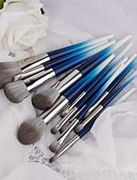 cheap -12 Pcs Small Rainbow Makeup Brush Set Pink Light Blue 12 Powder Brush Powder Brush Makeup Tool