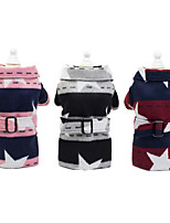cheap -Dog Coat Jacket Stars British Gentle Casual / Daily Winter Dog Clothes Puppy Clothes Dog Outfits Breathable Red Pink Gray Costume for Girl and Boy Dog Fleece S M L XL XXL