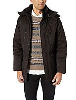 cheap -men's parka jacket, logo patch black, l