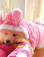 cheap -warm pet sweater puppy clothes for cold weather & cute rabbit shape dog costume fleece hoodie coat dog clothes pet supplies