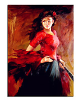cheap -100% Hand painted Classical European Oil Painting Woman Canvas Paintings Wall Abstract Landscape Wall Art Pictures Home Decor