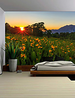 cheap -Wall Tapestry Art Decor Blanket Curtain Picnic Tablecloth Hanging Home Bedroom Living Room Dorm Decoration Polyester Sunshine Background Yellow Flowers Beauty Views