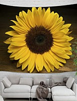 cheap -Wall Tapestry Art Decor Blanket Curtain Picnic Tablecloth Hanging Home Bedroom Living Room Dorm Decoration Polyester One Sunflower Beauty Views
