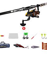 cheap -Fishing Rod and Reel Combo Telespin Rod 210 cm Portable Telescopic Lightweight Extra Heavy (XH) Sea Fishing Freshwater Fishing Bass Fishing / Trolling & Boat Fishing