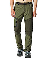 cheap -men's hiking pants outdoor quick dry waterproof convertible lightweight zip off camping mountain trousers #5817-army green,xl