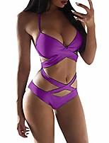 cheap -women's one piece bikini swimwear backless tummy control swimming costume swimsuits purple