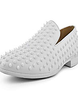 cheap -pascal - men's designer shoes with spikes, comfortable men's slippers, minimal fashion shoes, the original men's smoking slippers - color: white, size: 11